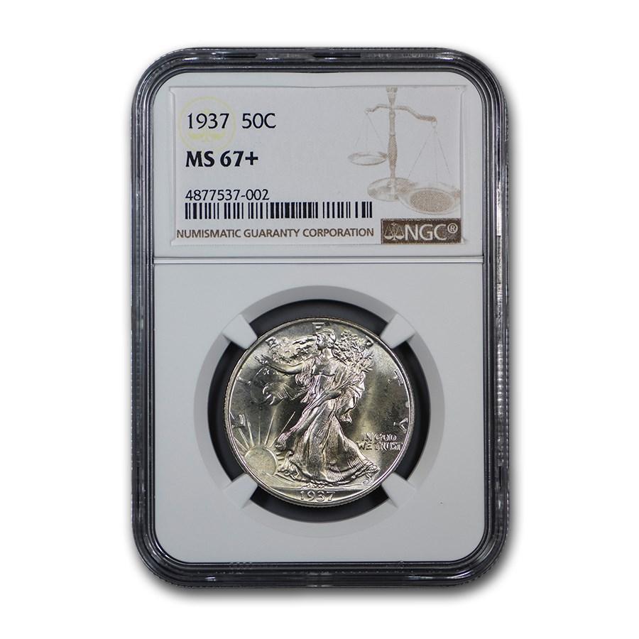 1937 Walking Liberty Half Dollar MS-67+ NGC