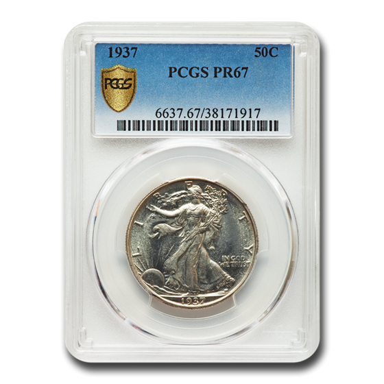 1937 Walking Liberty Half Dollar PR-67 PCGS
