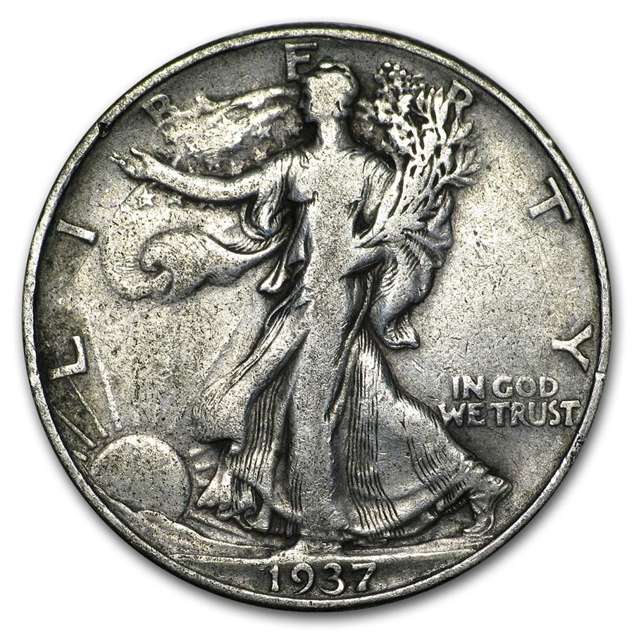 1937 Walking Liberty Half Dollar VG/VF