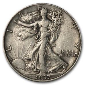 1937 Walking Liberty Half Dollar XF