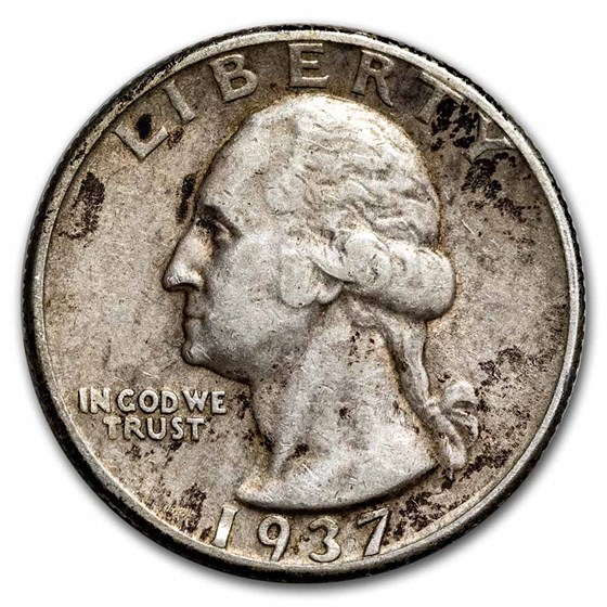 1937 Washington Quarter Good/Fine