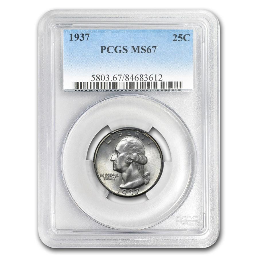 1937 Washington Quarter MS-67 PCGS