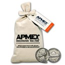 1938-1959 Jefferson Nickel 1000 Count Bag Avg Circ