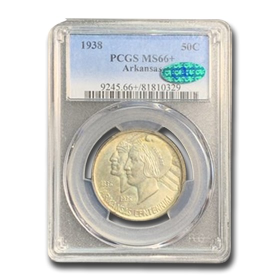 1938 Arkansas Half Dollar MS-66+ PCGS CAC