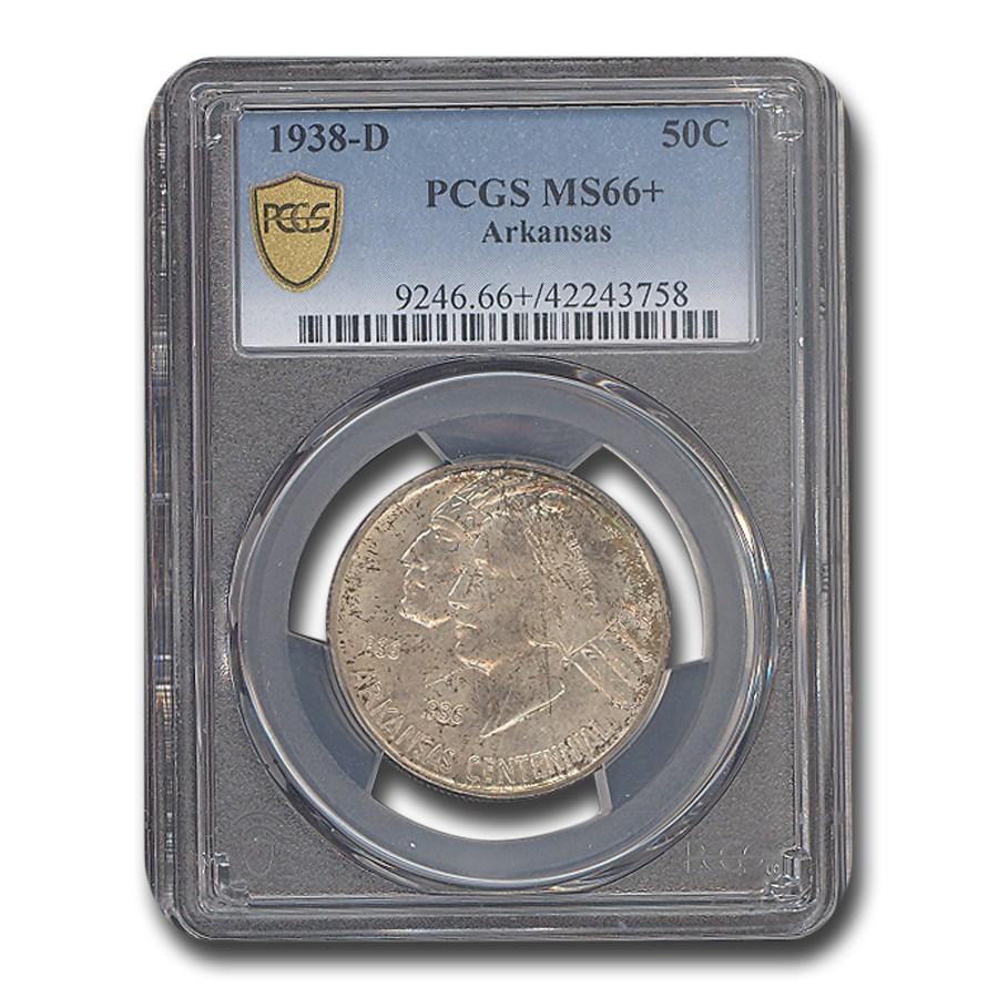 1938-D Arkansas Centennial Commemorative Half Dollar MS-66+ PCGS