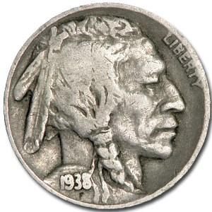 1938-D Buffalo Nickel Good+