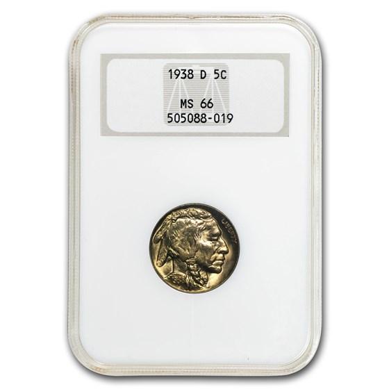 1938-D Buffalo Nickel MS-66 NGC
