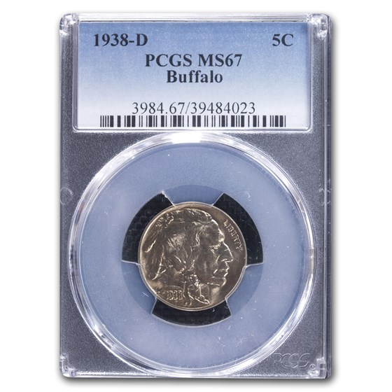 1938-D Buffalo Nickel MS-67 PCGS