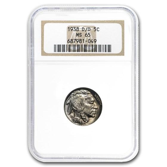 1938-D/D Buffalo Nickel MS-65 NGC