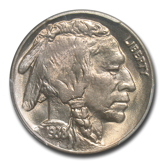 1938-D/D Buffalo Nickel MS-67 PCGS