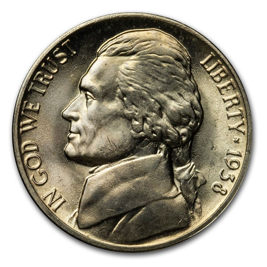 1938-D Jefferson Nickel BU