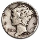 1938-D Mercury Dime Fine/VF