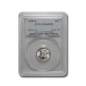 1938-D Mercury Dime MS-65 PCGS (FSB)
