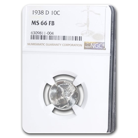 1938-D Mercury Dime MS-66 NGC (FB)