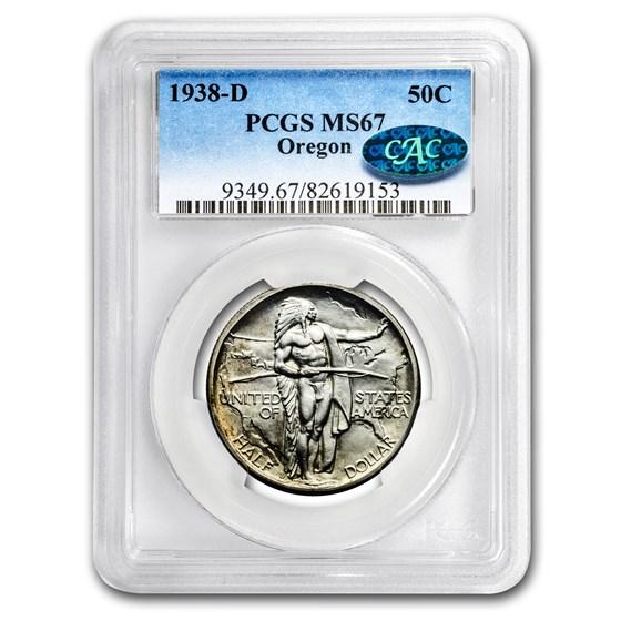 1938-D Oregon Half Dollar MS-67 PCGS CAC