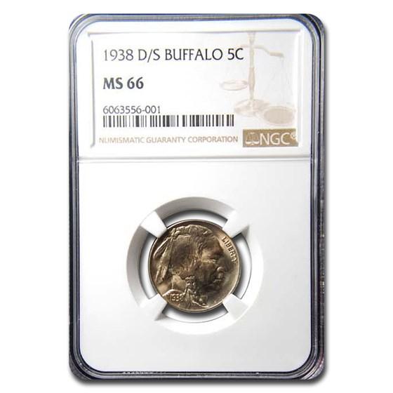 1938-D/S Buffalo Nickel MS-66 NGC