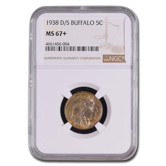 1938-D/S Buffalo Nickel MS-67+ NGC