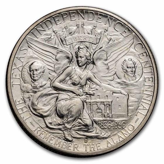 1938-D Texas Independence Centennial Half BU