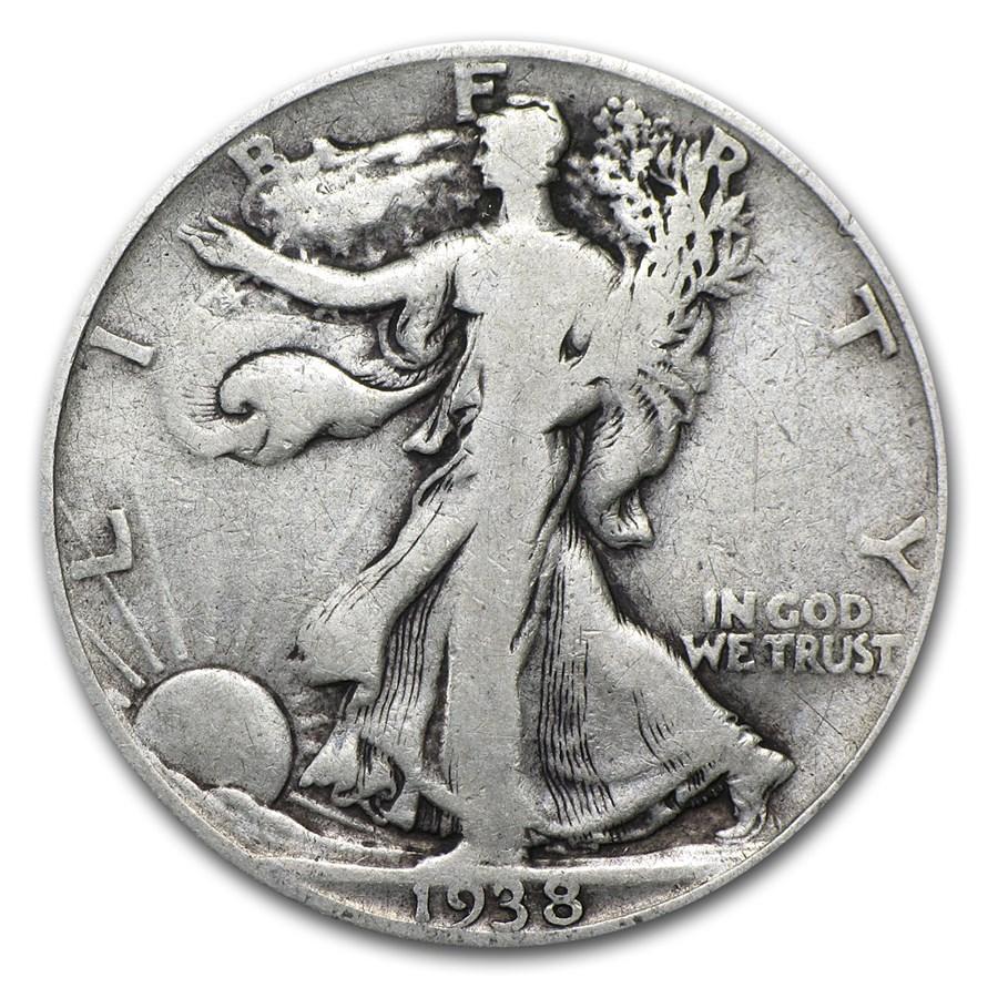 1938-D Walking Liberty Half Dollar Fine