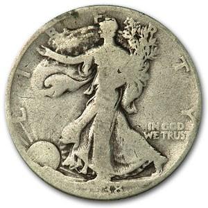 1938-D Walking Liberty Half Dollar Good Details (Rim Bumps)