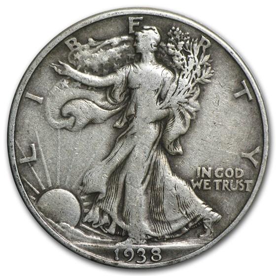 1938-D Walking Liberty Half Dollar VF