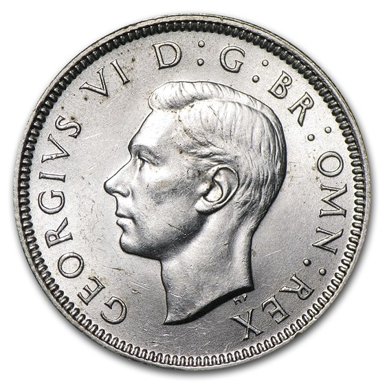 1938 Great Britain Silver Shilling George VI BU