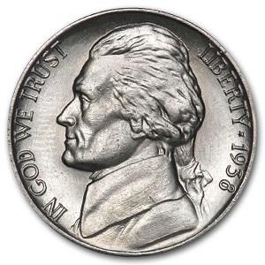1938 Jefferson Nickel BU