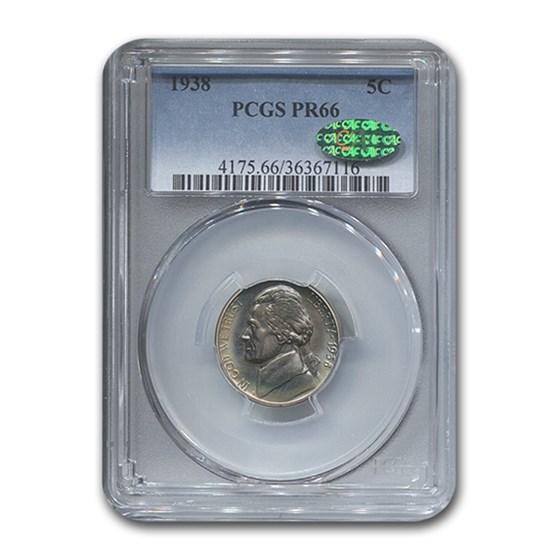 1938 Jefferson Nickel PR-66 PCGS CAC