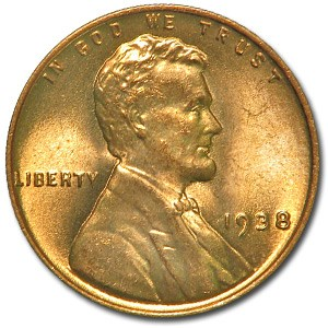 1938 Lincoln Cent BU (Red)