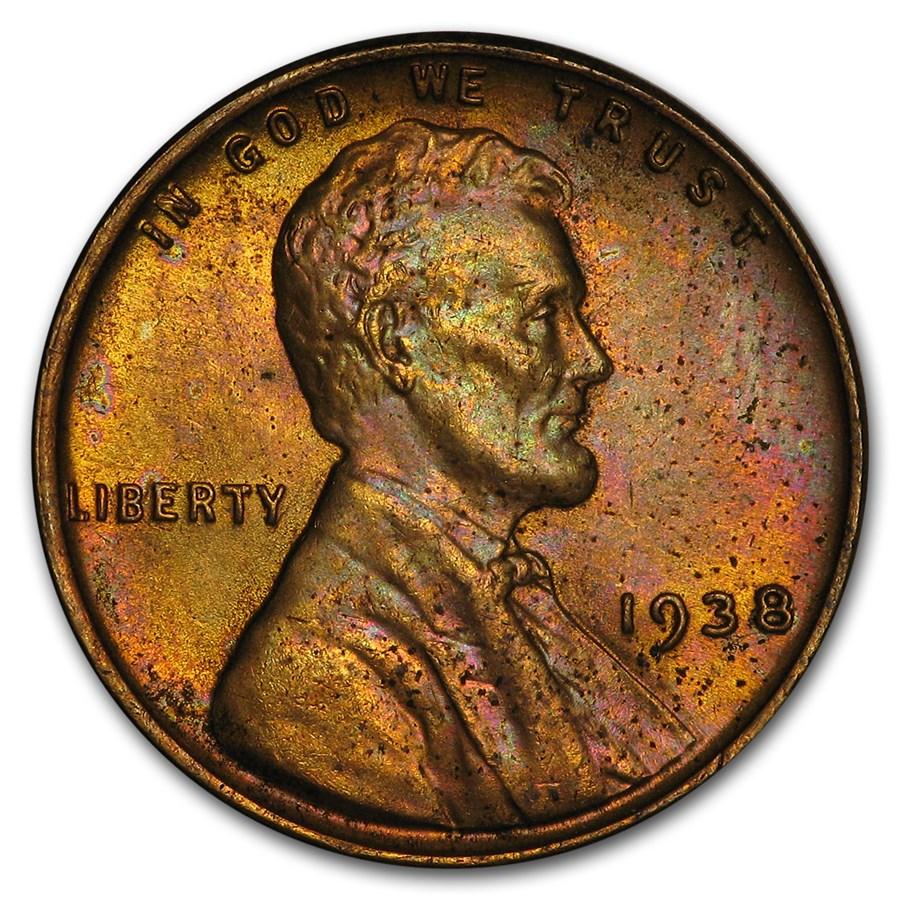 1938 Lincoln Cent BU
