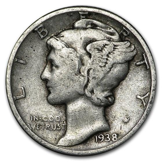 1938 Mercury Dime Good/VF