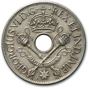 1938 New Guinea Silver Shilling George VI XF Details