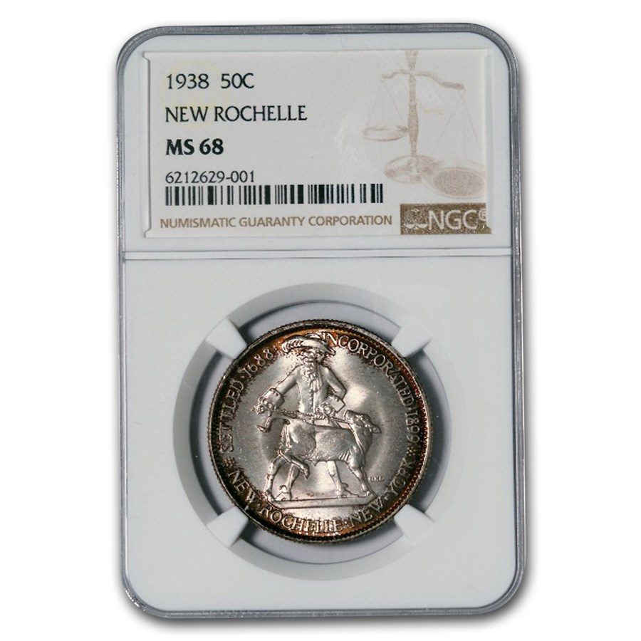 1938 New Rochelle Half Dollar MS-68 NGC