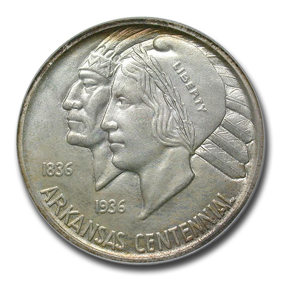 1938-S Arkansas Half Dollar MS-64 PCGS CAC