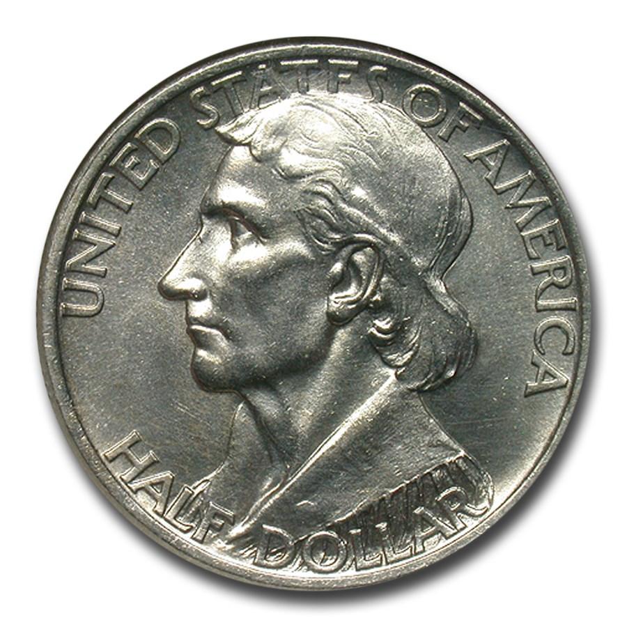 1938-S Daniel Boone Bicentennial Half Dollar MS-64 NGC