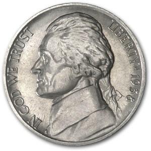 1938-S Jefferson Nickel AU