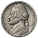 1938-S Jefferson Nickel Avg Circ