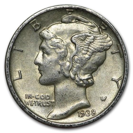 1938-S Mercury Dime AU