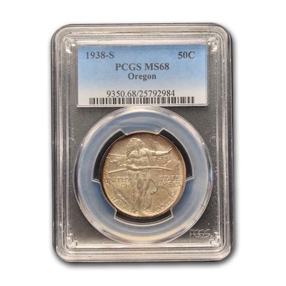 1938-S Oregon Commemorative Half Dollar MS-68 PCGS