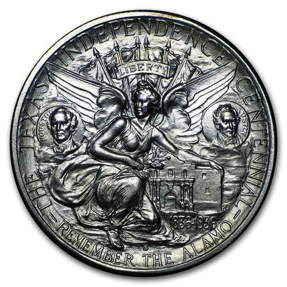 1938-S Texas Independence Centennial Half BU