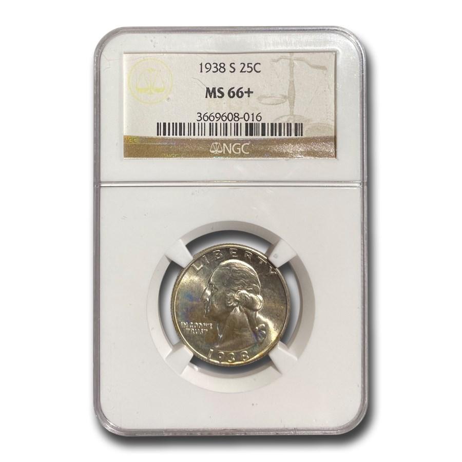 1938-S Washington Quarter MS-66+ NGC