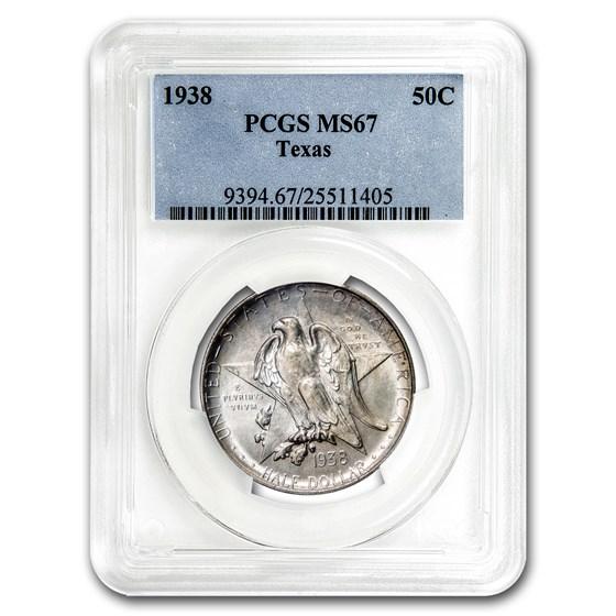 1938 Texas Half Dollar MS-67 PCGS