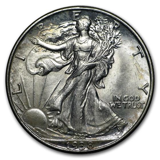 1938 Walking Liberty Half Dollar BU
