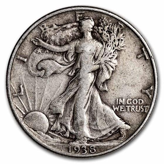 1938 Walking Liberty Half Dollar VG/VF