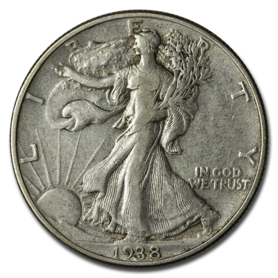 1938 Walking Liberty Half Dollar XF
