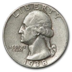 1938 Washington Quarter XF