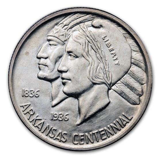 1939 Arkansas Centennial Half Dollar Commemorative BU