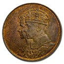 1939 Canada Royal Visit Bronze Medal BU (Red/Brown, 26 mm)