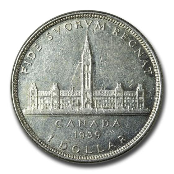 1939 Canada Silver Dollar Royal Visit AU