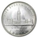 1939 Canada Silver Dollar Royal Visit BU
